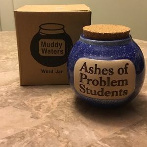 NIB Muddy Waters Hand Crafted Jar Ashes OfStudents